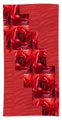 Beach Sheet featuring the photograph Silken Red Sparkles Redrose Across by Navin Joshi