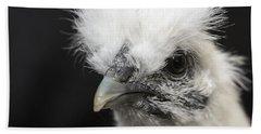 Silkie Chicken Portrait Beach Sheet by Jeannette Hunt