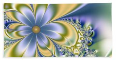 Silky Flowers Beach Towel by Svetlana Nikolova
