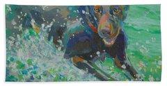 Water Droplets Paintings Beach Towels