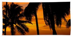 Silhouette Sunrise In Kapoho Beach Towel by Lehua Pekelo-Stearns