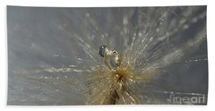 Silver Drops Beach Towel