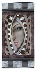 Silver Memories 220414 Framed Beach Towel by Selena Boron