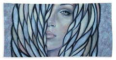 Silver Nymph 021109 Beach Towel by Selena Boron