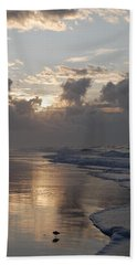 Beach Sheet featuring the photograph Silver Sunrise by Mim White
