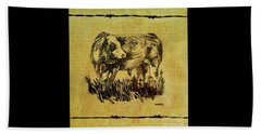 Simmental Bull 12 Beach Towel by Larry Campbell