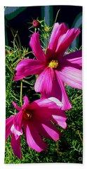 Simple Flowers1 Beach Sheet
