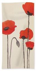 Simply Poppies 2. Beach Towel
