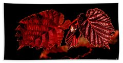 Simply Red Beach Towel by Michelle Meenawong