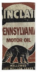 Sinclair Motor Oil Can Beach Towel