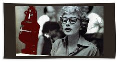 Singer Pianist Blossom Dearie  No Known Date Beach Towel
