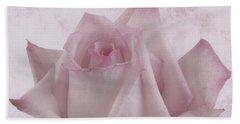 Single Pink Rose Blossom Beach Sheet by Sandra Foster