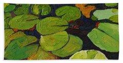 Singleton Lily Pads Beach Towel by Phil Chadwick