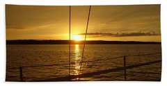 Beach Towel featuring the photograph Stay Golden by Deena Stoddard