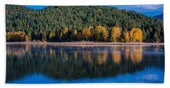 Siskiyou Lake Shoreline Beach Towel