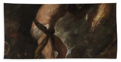Beach Towel featuring the painting Sisyphus by Titian