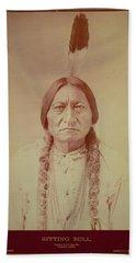Sitting Bull, Sioux Chief, C.1885 Bw Photo Beach Towel