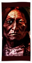 Sitting Bull - Warrior - Medicine Man Beach Towel by Hartmut Jager