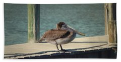 Sitting On The Dock Of The Bay Beach Towel