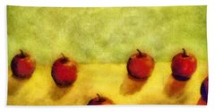 Six Apples Beach Towel by Michelle Calkins
