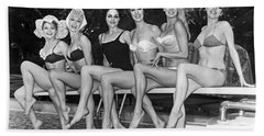 Six Showgirls At The Pool Beach Towel