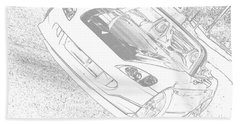 Sketched S2000 Beach Towel