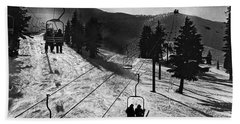 Ski Lifts At Squaw Valley In California Beach Towel