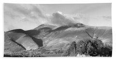 Skiddaw And Friars Crag Mountainscape Beach Towel