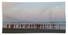 Skinny Dipping Down A Moon Beam Beach Towel