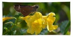 Skipper Butterfly 2 Beach Towel by Debra Martz