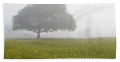 Beach Sheet featuring the photograph Skc 0056 Tree In Fog by Sunil Kapadia