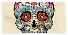 Skull 10 Beach Towel