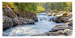 Skutz Falls At Cowichan River Provincial Park Beach Towel