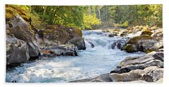 Skutz Falls At Cowichan River Provincial Park Beach Towel
