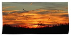 Sky At Sunset Beach Towel by Cynthia Guinn