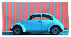 Sky Blue Bug Beach Towel