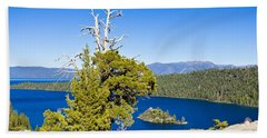 Sky Blue Water - Emerald Bay - Lake Tahoe Beach Sheet