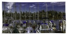 Beach Sheet featuring the photograph Sky Embrace by Jean OKeeffe Macro Abundance Art