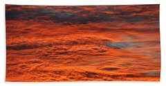 Sky Fire  Beach Towel