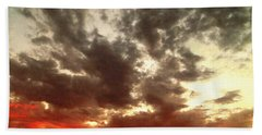 Beach Towel featuring the photograph Sky Moods - Stoking The Coals by Glenn McCarthy