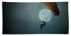 Skydiver's Moon Beach Towel