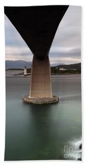 Skye Bridge At Sunset Beach Towel