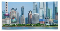 Skylines At The Waterfront, Oriental Beach Towel