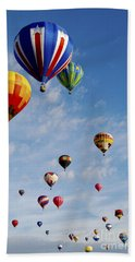 Beach Towel featuring the photograph Skyward Bound by Gina Savage