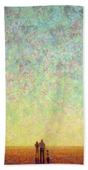 Skywatching In A Painting Beach Towel