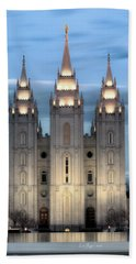 Slc Temple Blue Beach Towel by La Rae  Roberts