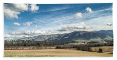 Beach Towel featuring the photograph Sleeping Giants In Cades Cove by Debbie Green
