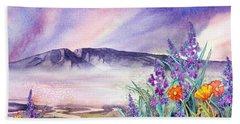 Sleeping Lady Sunset Beach Towel by Teresa Ascone