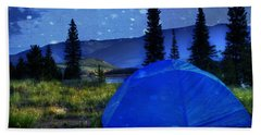 Sleeping Under The Stars Beach Towel