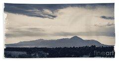 Sleeping Ute Mountain Beach Towel by Janice Rae Pariza